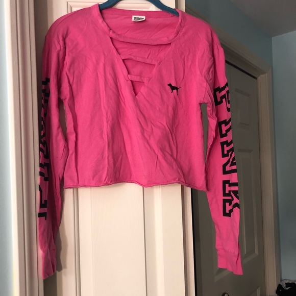 PINK Victoria's Secret Tops - PINK cropped long sleeve